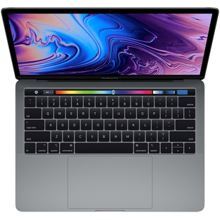 "Ноутбук Apple MacBook Pro 13 with Retina display and Touch Bar 2019 (Intel Core i5 2400 MHz/13.3""/2560x1600/16GB/256GB SSD/DVD нет/Iris Plus Graphics 655/Wi-Fi/Bluetooth/macOS) (Z0WQ0008X) (серый космос)"